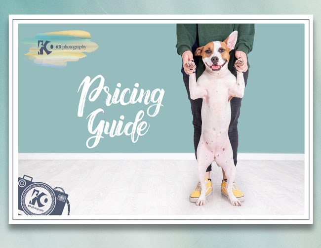 k9 photography pricing guide cover photo